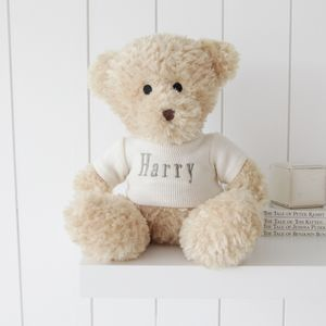 Personalised Waffle Teddy Bear – Large - soft toys & dolls