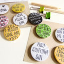 Set Of Gin Badges/Magnets