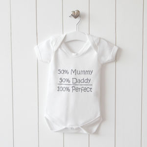 Personalised 100% Slogan Bodysuit - nightwear