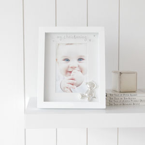 'My Christening' Teddy Photo Frame - children's pictures & paintings