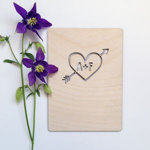Personalised Heart Card - wedding cards & wrap