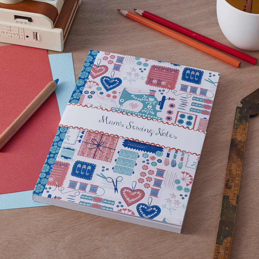 Personalised 'Sew Happy' Notebook