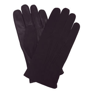 Marston. Men's Suede And Leather Glove - hats, scarves & gloves