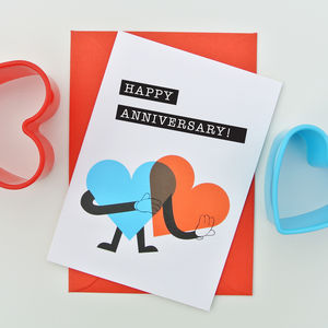 Heart Man Anniversary Card