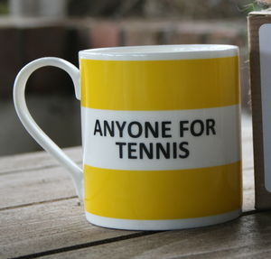 'Anyone For Tennis' Fine Bone China Mug