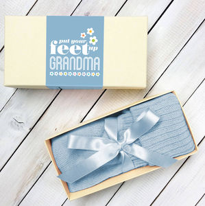 Personalised Put Your Feet Up Grandma And Mum Bed Socks - gifts for grandmothers