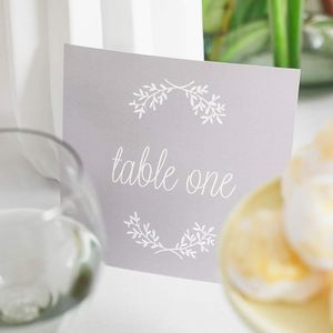 Perfect Day Table Number Cards Pack - table numbers