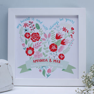Personalised Always Be Yours…Framed Print - 100 best wedding prints