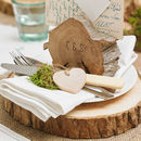 Wooden Tree Slab Stump Wedding Centrepiece