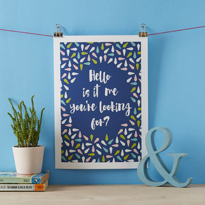 Personalised 'Song Lyric' Print