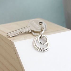 Personalised Family Names Keyring - gifts for mothers