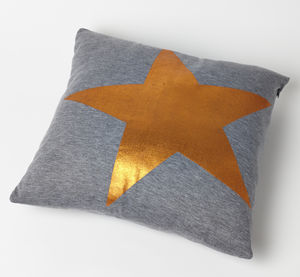 Metallic Star Cushion - cushions