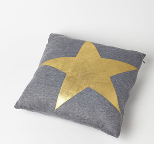 Metallic Star Cushion - patterned cushions