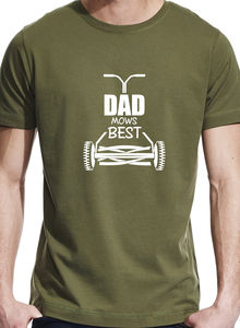 Dad Mows Best Gardening T Shirt