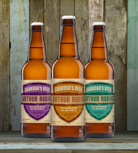 Personalised Grandad's Set Of Three Craft Beer - beer & cider