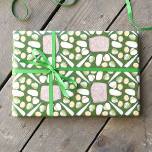 Vegetarian Christmas Dinner Wrapping Paper Set - winter sale