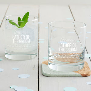 Personalised Father Of The Groom Tumbler Glass - shop by price