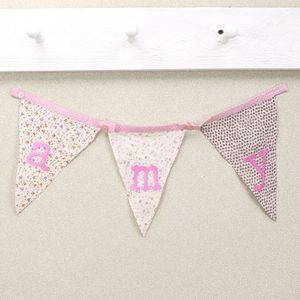 Ditsy Floral Alphabet Bunting Flags