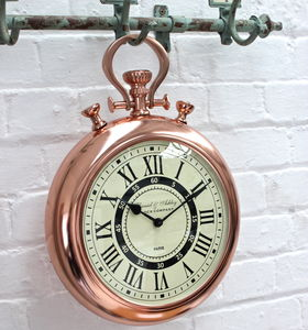 Copper Stop Watch Wall Clock
