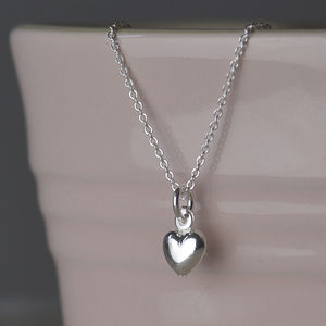 Silver Girl's Dolphin, Heart, Star Or Flower Necklace