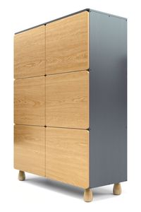 Six Door Boulder Storage Push Doors - furniture