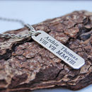 Men's Personalised Silver Vertical Bar Necklace