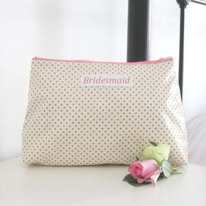 Bridesmaid Personalised Cosmetic Bag - make-up bags