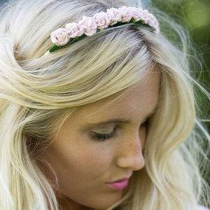 Mini Rose Flower Crown Spring Summer Colours - bridal hairpieces
