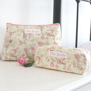 Bride's Washbag And Make Up Bag Gift Set - bridal beauty