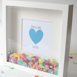 Personalised Confetti Frame - wedding gifts