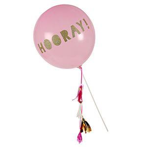 Hooray Balloon Wand With Tassels - weddings sale