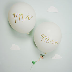 Mr And Mrs Balloon Card