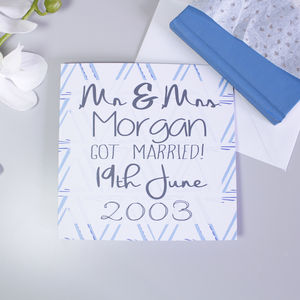 Personalised Patterned Wedding Card