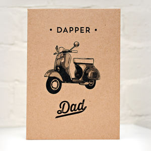 Dapper Dad Father's Day Card With Scooter