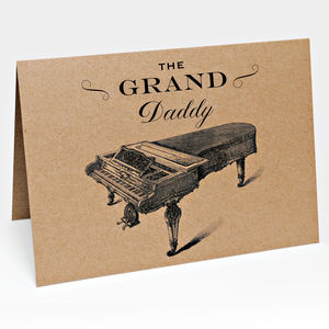Grand Daddy Piano Card
