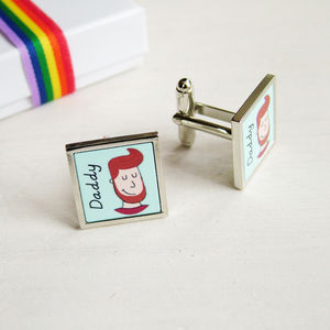Personalised Look A Like Cufflinks - jewellery gifts for fathers