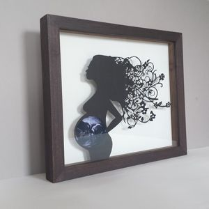 Baby Scan Keepsake Papercut Frame