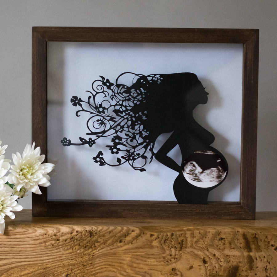 baby scan keepsake papercut frame by the crafty calf ...