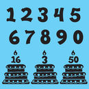 Birthday cake numbers