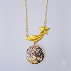Comet What May Earth Locket Necklace