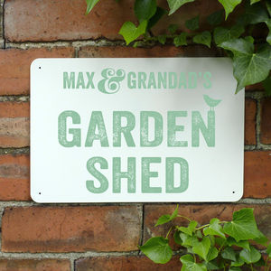 Personalised Garden Shed Metal Sign - art & decorations