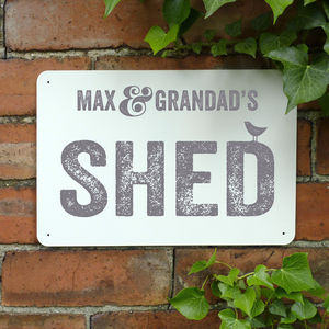 Personalised Shed Metal Sign - shop by price