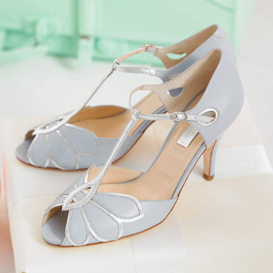 Mimosa Leather T Bar Wedding Shoes By Rachel Simpson