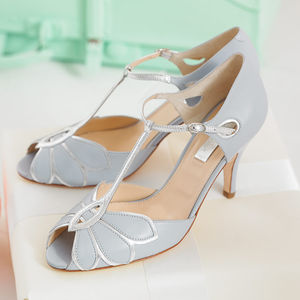 Mimosa Leather T Bar Wedding Shoes - wedding fashion
