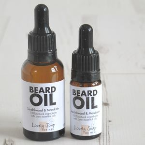 Natural Beard Softening Oil - organic skincare