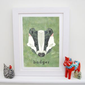 Badger Animal Print - woodland nursery