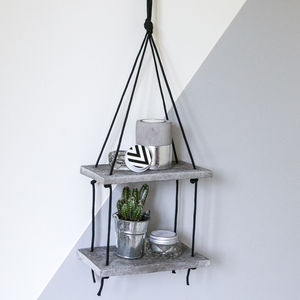 Two Tier Concrete Shelf