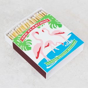 Large Flamingo Print Luxury Matchbox - picnics & barbecues