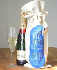 Personalised 'Mr' Anniversary Bottle Bag - utensils