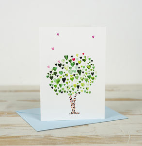 Heart Tree Card - valentine's cards